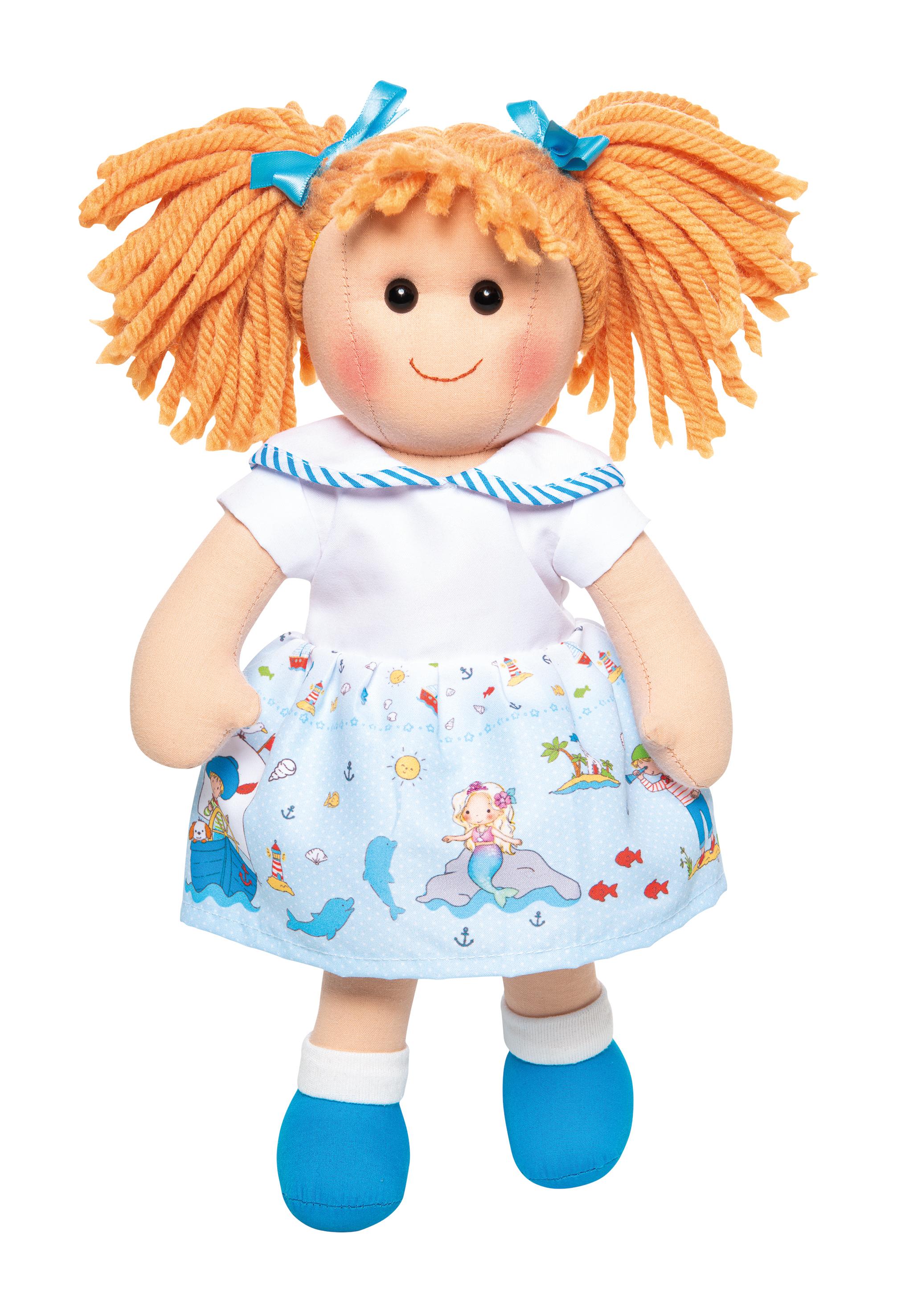 """Puppe """"Fenja"""" mit maritimem Kleid, 32 cm"""