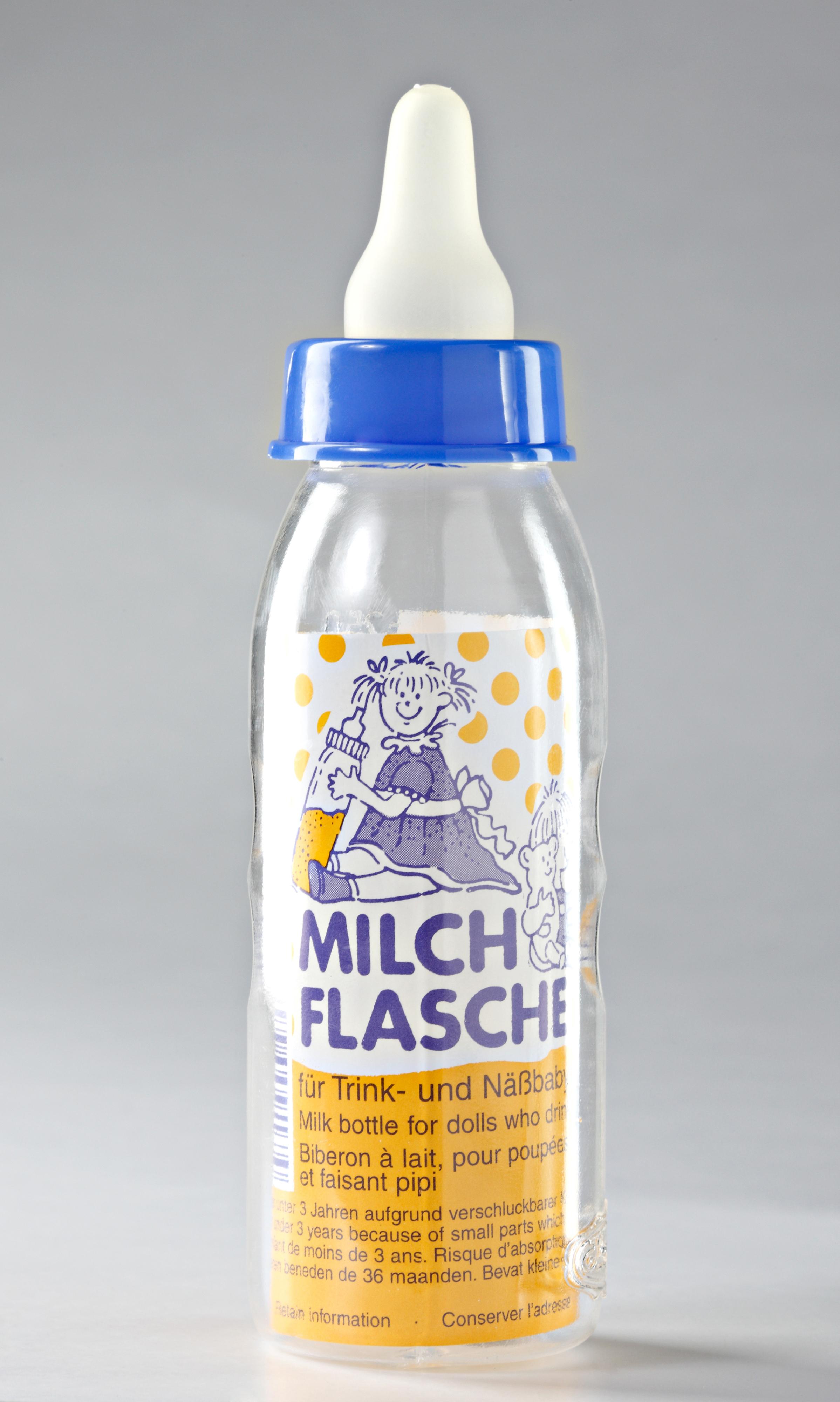 Milchflasche mit Sauger