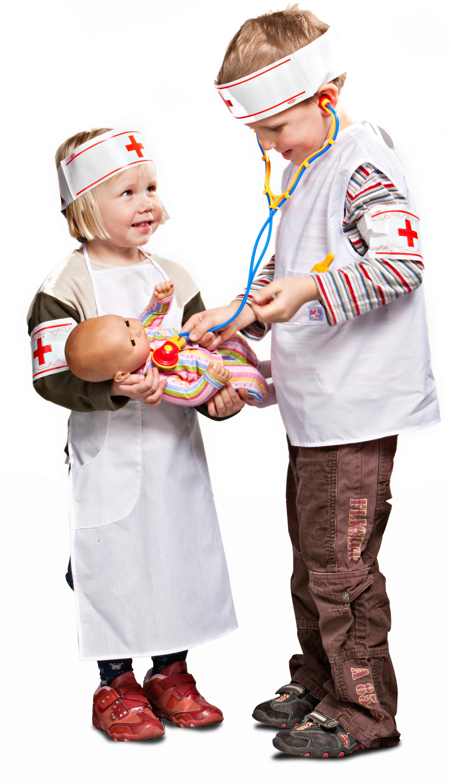 Kinder-Doktorkittel aus Stoff