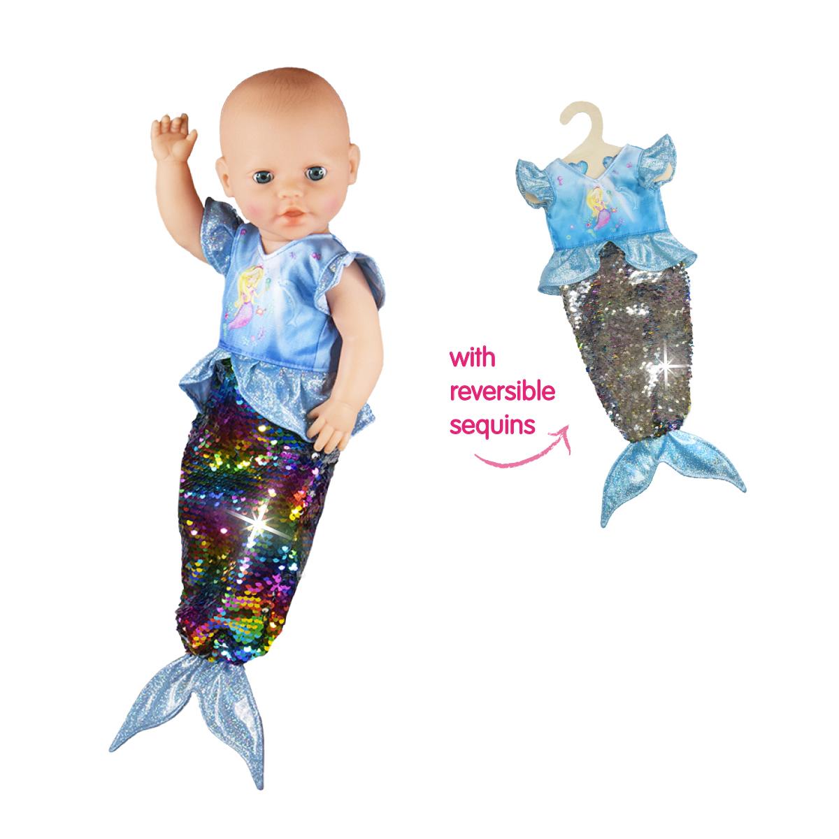 "Kleid ""Meerjungfrau Ava"" mit Wendepailletten, Gr. 28-35 cm"