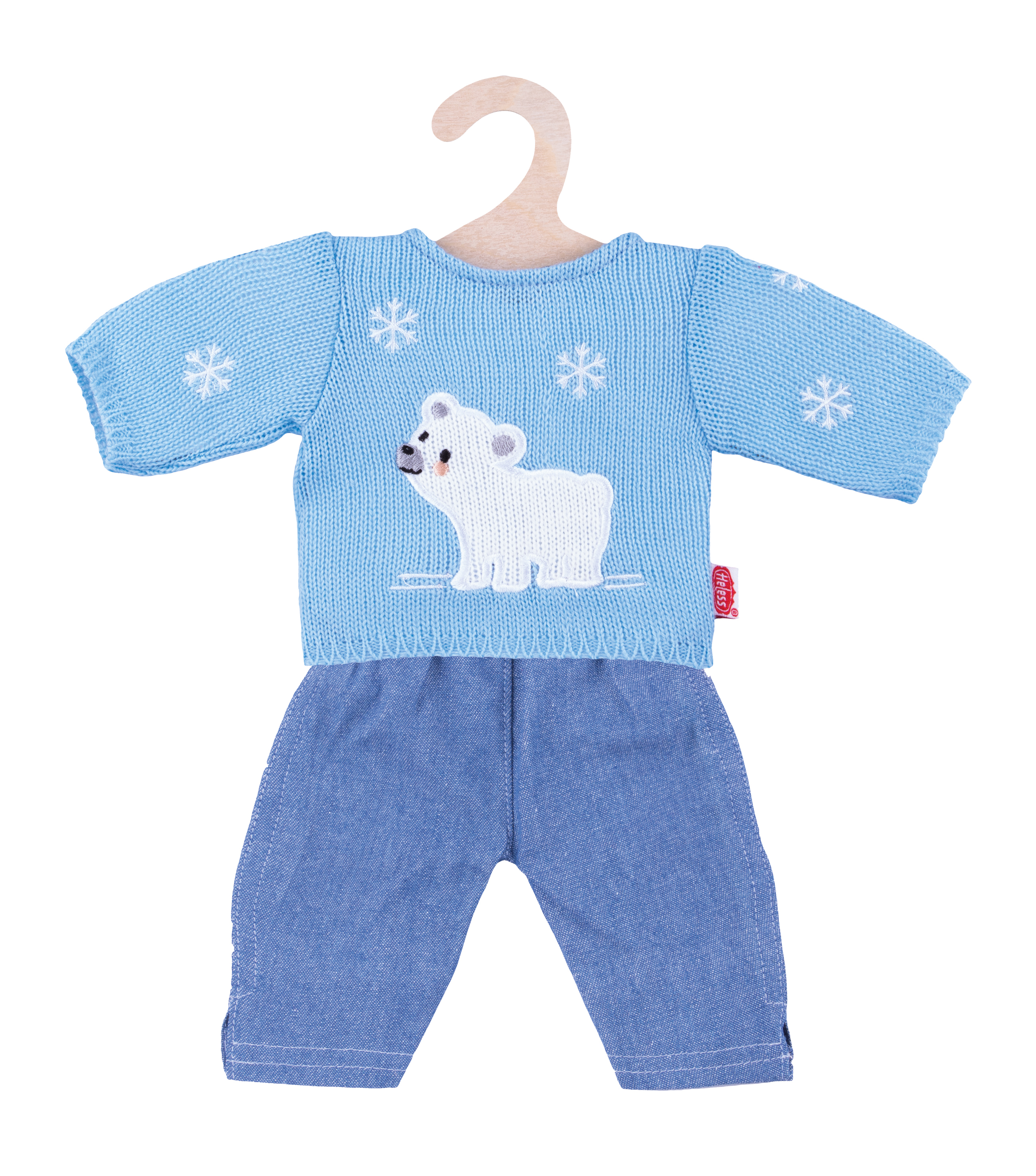 "Pullover ""Eisbär"" mit Jeans, Gr. 35-45 cm"