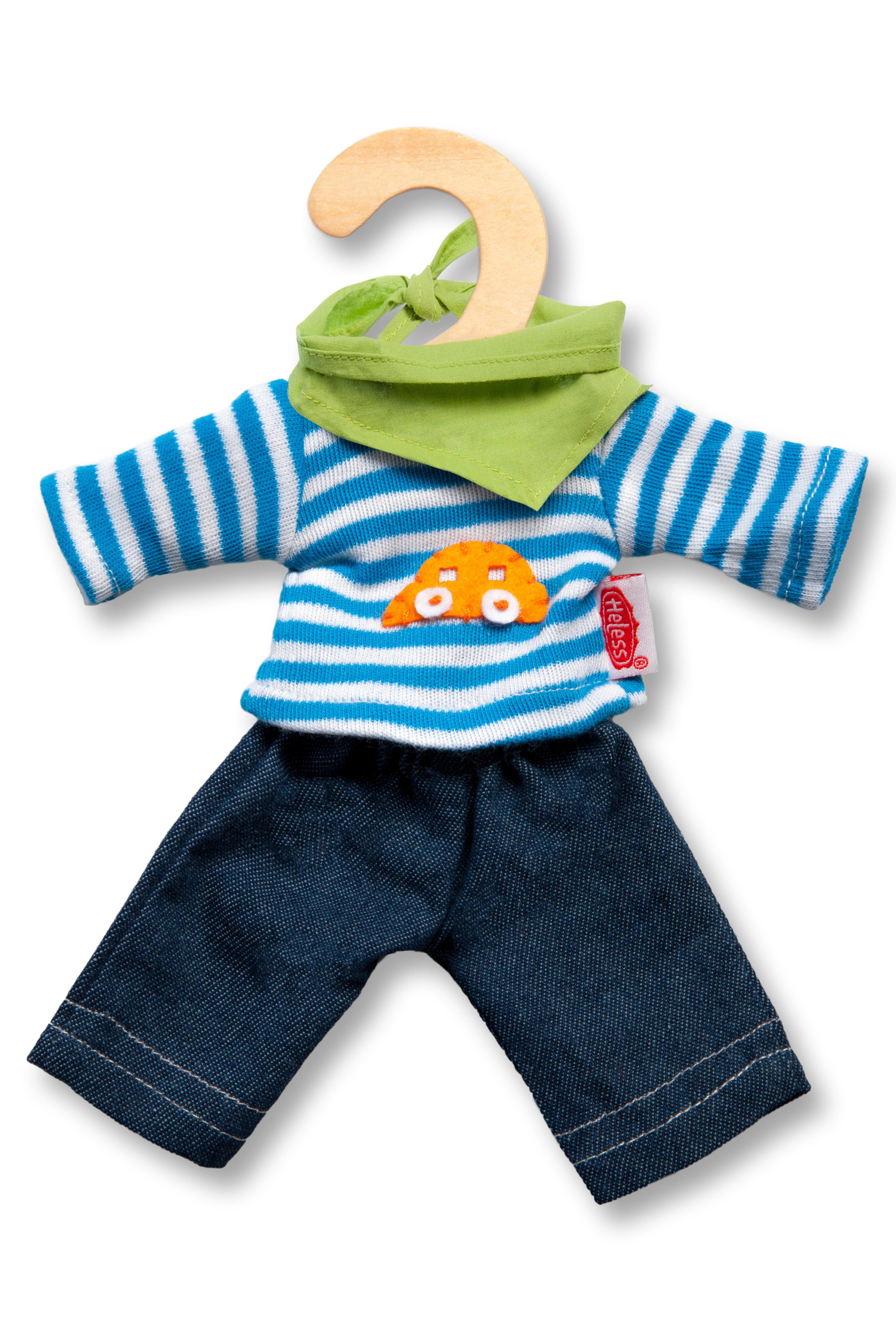 Jeans mit Streifenshirt, mini, Gr. 20-25 cm
