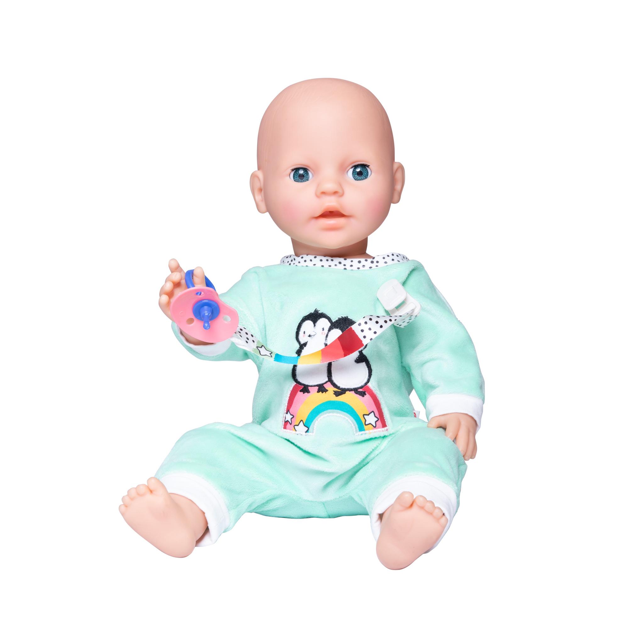 Schnullerband mit Clip und Puppenschnuller