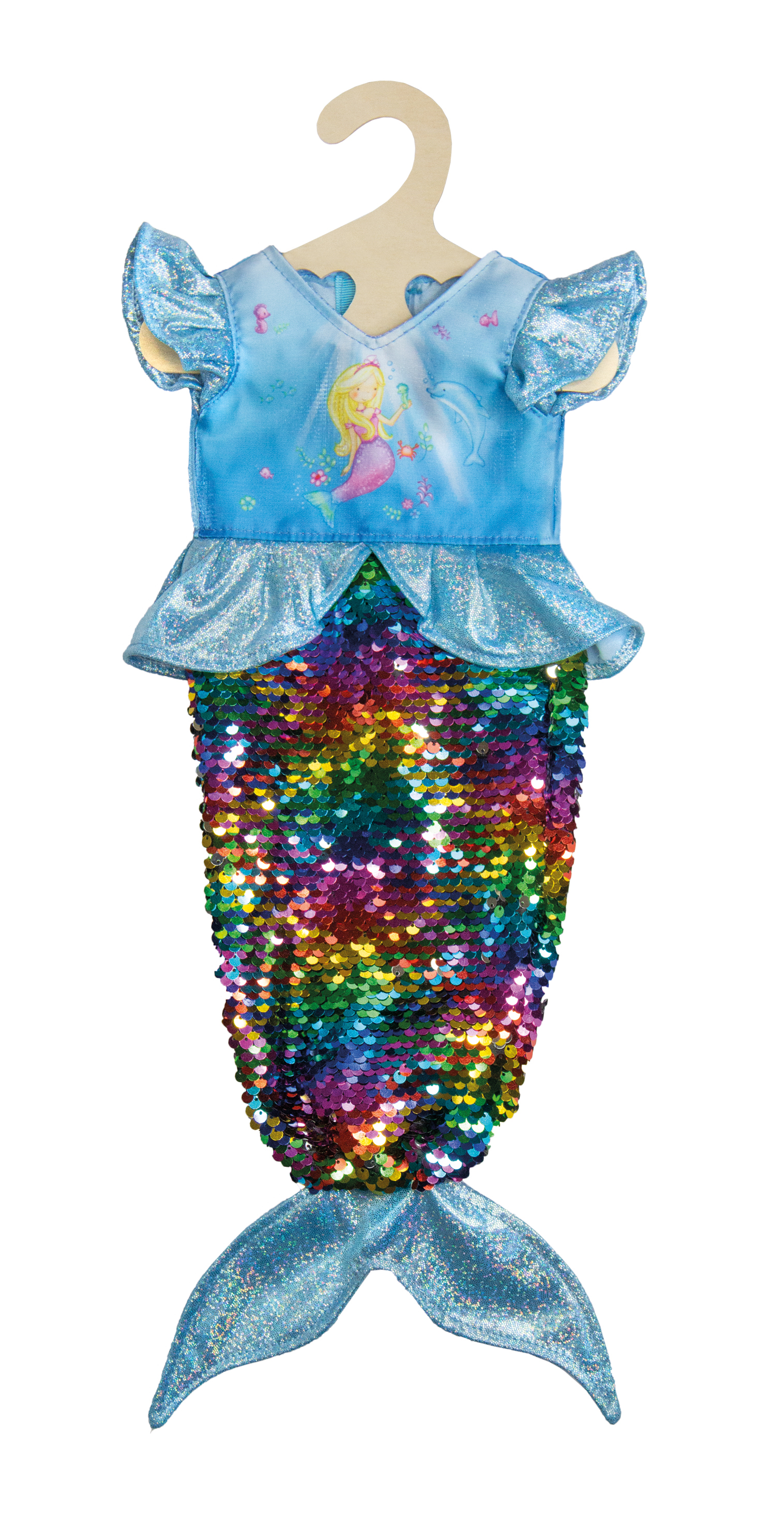 "Kleid ""Meerjungfrau Ava"" mit Wendepailletten, Gr. 35-45 cm"