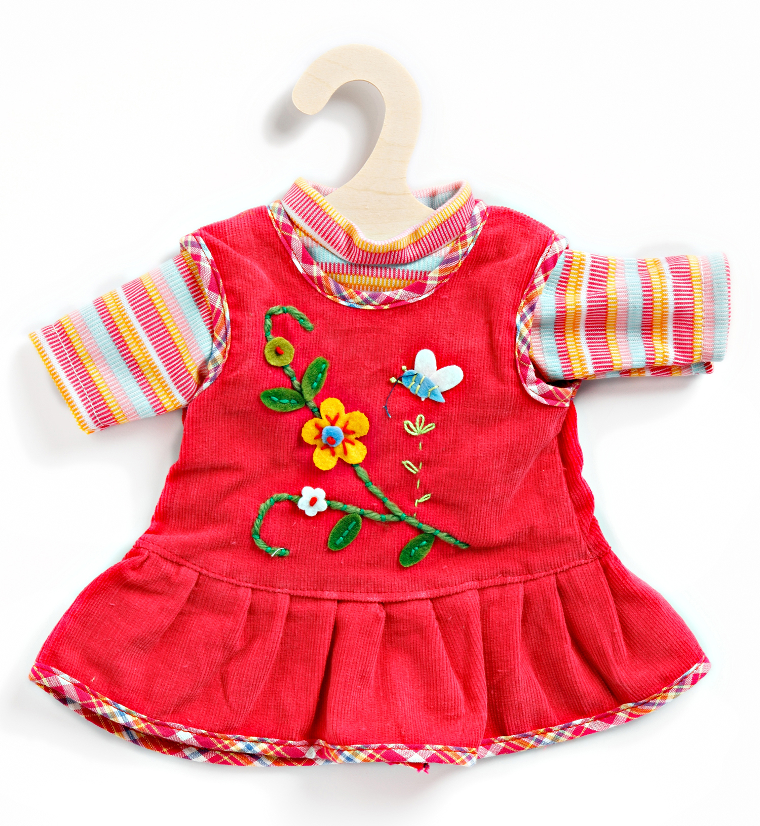 Peppiges Kleid mit T-Shirt, Gr. 35-45 cm